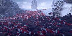 Hmmm Yes I Am Extremely Into This Game In Which 11000 Penguins War With 4000 Santas
