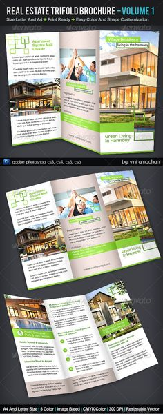 Real Estate TriFold Brochure | Volume 1 — Photoshop PSD #real estate #condominium • Available here → https://graphicriver.net/item/real-estate-trifold-brochure-volume-1/5544901?ref=pxcr
