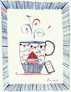 Storm In a Teacup Art Print by Anna Brinded Illustration | Society6