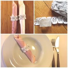 The perfect addition to your dinner party Cute Posts, Napkin Rings, Napkins, Dinner, Detail, Tableware, Party, How To Make, Crafts