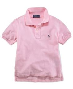 Ralph Lauren Boys' Pique Polo, Boys 8-20 - Carmel Pink XL