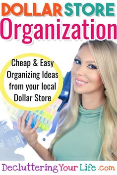Dollar Store Organization Tips (Dollar Tree Organization hacks too!) - These organizing tips from professional organizers help with getting organized and staying organized on a budget. DIY organization ideas and home organization tips to declutter your l Organisation Hacks, Deep Pantry Organization, Dollar Tree Organization, Organizing Hacks, Home Organization Hacks, Organizing Your Home, Organizing Clutter, Cleaning Hacks, Financial Organization