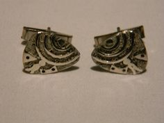 Vintage Mid-Century Modernist Sterling Silver Cufflinks by TheConsummateImage on Etsy ($85)
