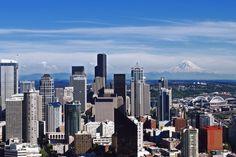 Seattle Skyline and Mount Rainier from the Space Needle/ Washington/ WA by Jeka World Photography, via Flickr
