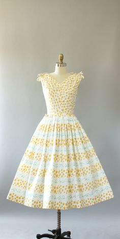Vintage 50s Dress/ 1950s Cotton Dress/ Peggy by WhenDecadesCollide