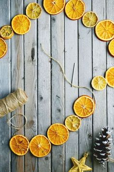 This dried citrus garland will add Scandinavian charm and a fresh scent to your home.