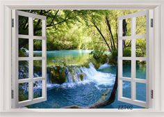 Jungle River Scenery Thin Vinyl Customized Backdrop CP Photography Prop Photo Background
