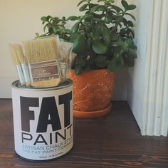 """""""Have some old cans lying around? Repurpose them! They make excellent brush holders 😉 Paint Studio, Brush Holders, Paint Companies, Repurposed, Planter Pots, Fat, Canning, Twitter, Projects"""