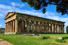 Paestum is an ancient Greco-Roman city in Campania Ancient Ruins, Ancient Rome, Ancient Greece, Italy Magazine, Roman City, Historical Monuments, Parthenon, Beautiful Places To Travel, Fortification