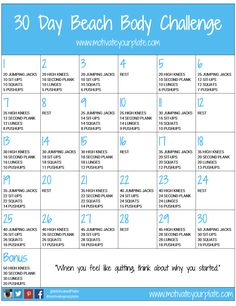30 days beach body challenge