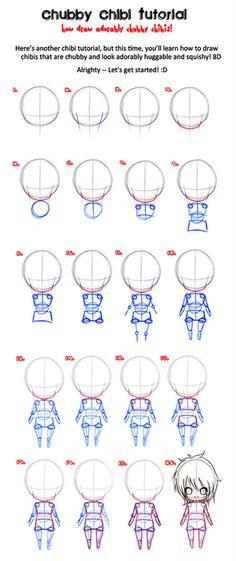 Manga Drawing Tips How to draw chibi Drawing Skills, Drawing Lessons, Drawing Techniques, Drawing Tips, Drawing Sketches, Drawing Tutorials, Sketching, Anime Chibi, Yandere Manga