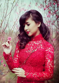 Red Traditional Ao Dai TR181