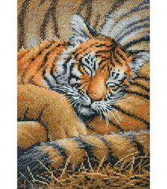 "Dimensions Gold Collection Petites Cozy Cub Counted Cross Stitch Kit-6""X7"" 18 Count at Joann.com"