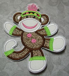 Hey, I found this really awesome Etsy listing at https://www.etsy.com/listing/55693163/iron-on-applique-sock-monkey-sophia