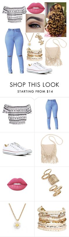 """Untitled #211"" by mama-seokjin92 ❤ liked on Polyvore featuring Converse, Billabong, Lime Crime, Topshop, Kate Spade and Panacea"