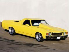 Supercharged big block 1972 Chevy El Camino #yellow