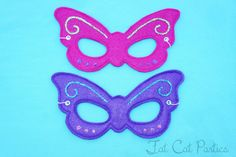 Felt Butterfly / Fairy Mask by FatCatParties on Etsy