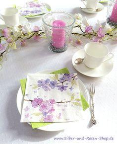 Papierservietten Tender Blossoms Lunchgröße