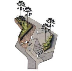 Landscape Design Plans, Landscape Architecture Design, Architecture Graphics, Architecture Drawings, Architecture Portfolio, Sustainable Architecture, Architecture Plan, Bubble Diagram Architecture, Paving Design