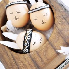 Enjoy your Easter Brunch with these cute boho Easter Eggs (in German)