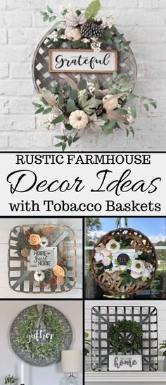 The best and most beautiful rustic tobacco basket decor ideas and inspirations that will give your beautiful home a charming farmhouse vibe. # Home Decor crafts Tobacco Basket Decor Ideas - My Cozy Colorado Diy Rustic Decor, Rustic Home Design, Farmhouse Design, Modern Design, Colorado, Decor Crafts, Diy Home Decor, Tobacco Basket Decor, Farmhouse Decor