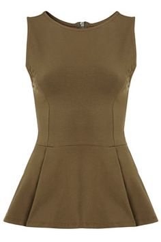 perfect peplum for a military-inspired look