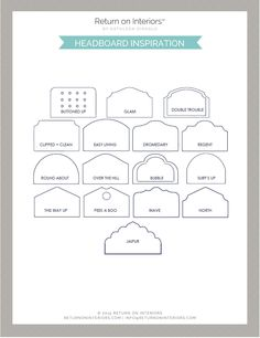 Designing a Bedroom and what you need to know. Download this quick reference guide including headboard inspiration.