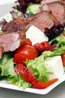 Grilled Lamb Salad with Tzatziki Recipe