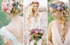 Love these hair styles for the bride! | Summer Wedding Hair - Our Top 20 Styles via @onefabday