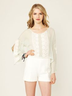Embroidered Bell Sleeve Blouse by Line & Dot on Gilt.com