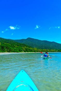 Kayaking at Cape Tribulation, Great Barrier Reef, Queensland, Australia