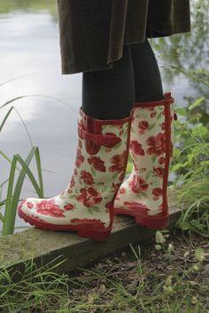 Laura Ashley Elegance Wellington Rubber Gardening Boot-Cressida