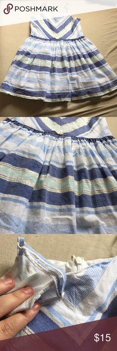 Gymboree Sparkle Striped Dress 100% cotton poplin Hidden back zipper Adjustable straps Fully lined Approximately knee length Collection Name: Butterfly Batik 2015 Gymboree Dresses