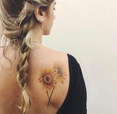 Always wanted a sunflower, and I have no tattoos you can see from the back.  I really, really like this one. #TattooYou