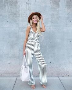 925e5205e1e7 striped jumpsuit-Casual spring to summer outfits – Just Trendy Girls Striped  Jumpsuit
