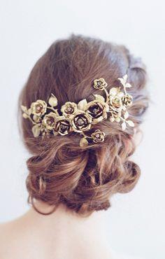 Bridal headpiece - Rose gardens headpiece