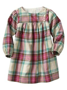 Gap | Plaid dress. After-school shirt extended to dress length?
