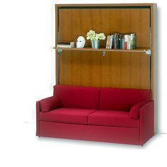 Dile wall-bed with sofa and shelf
