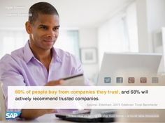 80% of people buy from companies they trust & 68% actively recommend trusted companies