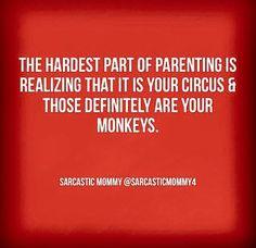 My circus, my monkeys. #parenting #humor