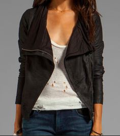 slouchy leather jacket