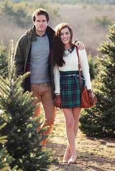 Classy Girls Wear Pearls: Henry's Christmas Tree Farm on Seven Mile Road {I want a plaid skirt sooo bad}