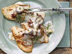 Italienisches Jägerschnitzel | Italian Hunterschnitzel - Chickenbreast with mushrooms & sundried tomatoes (in german)
