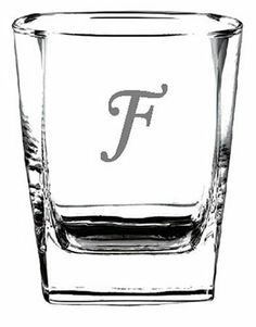 "Culver Inc., Monogram ""F"" 4 Piece Double Old Fashion Glass Set . $32.00. Save 20% Off!"