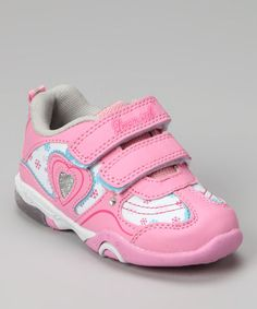 Take a look at this Pink Heart Flower Sneaker by Dream Seek on #zulily today!