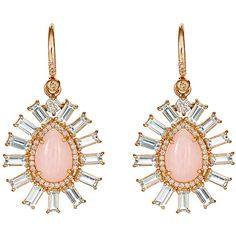 Irene Neuwirth Diamond Collection Women's Mixed-Gemstone Teardrop Earr ($10,760) ❤ liked on Polyvore featuring jewelry, earrings, colorless, teardrop earrings, tear drop earrings, clear earrings, pink earrings and pink rose earrings
