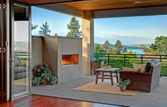 Indoor/outdoor living spaces are very on trend right now. This one is no exception. When you open the wood/glass doors you are met with views that look like they came straight out of a painting. Medina, WA Coldwell Banker BAIN $4,588,000