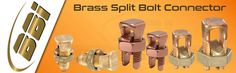 Our #BrassSplitBoltConnectors are available in various shapes and sizes to suit single, twin connections for different diameters of conductors.Visit @ http://www.brassmanufacturersindia.com/product/brass-earthing-accessories/brass-split-bolt-connector/