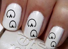 20 pc Real Horse Shoes Horse Tracks Nail Art Nail Decals #cg11na02