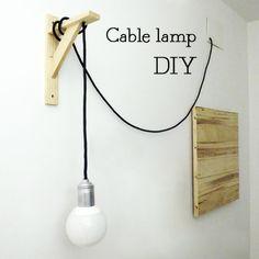 """DIY: """"Cable Lamp"""" de Marta o de cómo hacer una lampara de cable textil : x4duros.com"""